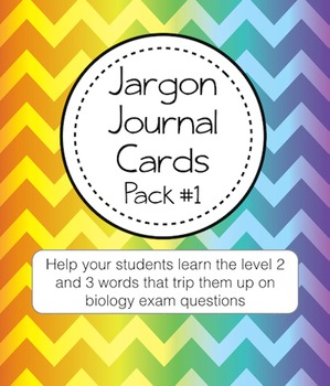 Literacy Help Jargon Journal Cards Pack #1 (perfect for Interactive Notebooks)