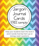 Literacy Help Jargon Journal Sample FREE card (term: Superior)