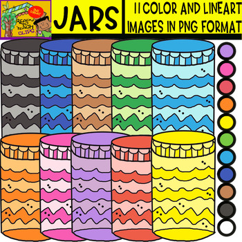 Jars - Cliparts Set - 11 Items