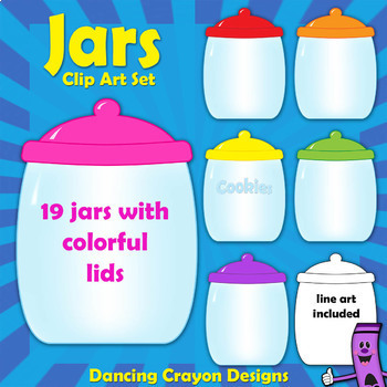 Jars / Cookie Jars Clip Art Set