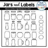 Jars and Labels Clipart