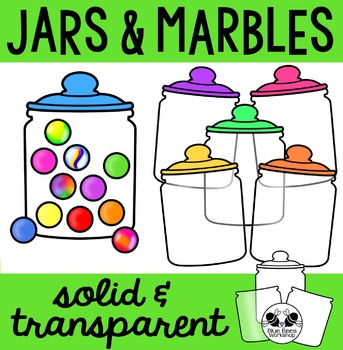 Jars and Marbles Clip Art