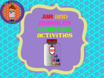 Jars and marbles counting activities