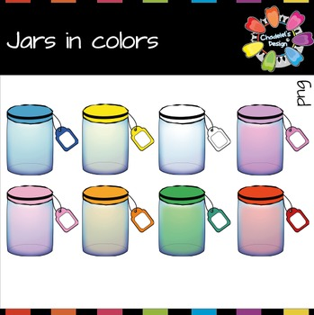 Jars in Colors Clips