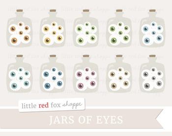 Jars of Eyes Clipart; Halloween, Eye, Eyeball, Specimen