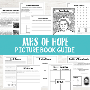 Jars of Hope by Jennifer Roy Book Activities | Irena Sendler