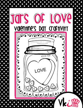 Jars of Love Valentine's Day Craftivity
