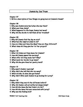 Jasmin Novel Study Guide