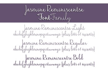 Jasmine Reminiscentse Font Family for Commercial Use