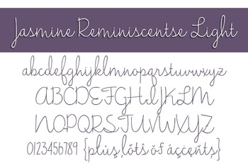 Jasmine Reminiscentse Light Font for Commercial Use