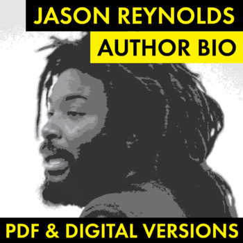 Jason Reynolds Author Study Worksheet, Author Bio, Easy Biography Activity, CCSS
