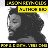 Jason Reynolds Author Study Worksheet, Author Bio, PDF & G