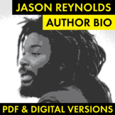 Jason Reynolds Author Study Worksheet, Author Bio, Easy Bi