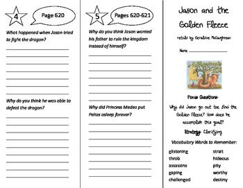 Jason and the Golden Fleece Trifold - Imagine It 5th Grade Unit 6 Week 2