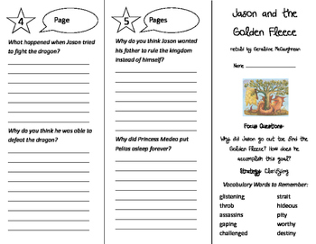 Jason and the Golden Fleece Trifold - Imagine It 5th Grade Unit 6 Week 2