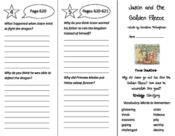 Jason and the Golden Fleece Trifold - Imagine It 5th Grade