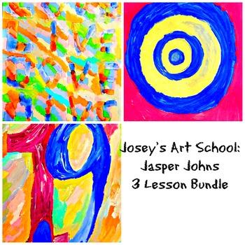 Jasper Johns Art 3 Lesson Bundle to K-4th Grade Art Histor