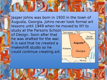 Jasper Johns Introduction and Drawing Project