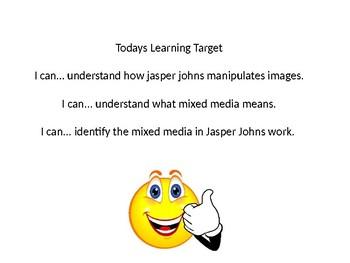 Jasper Johns Power Point Lesson