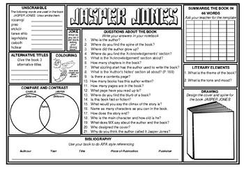 Jasper Jones Novel study worksheets