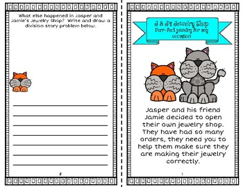 Jasper and Jamie's Jewelry Shop - A Division Activity Book