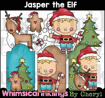 Jasper the Elf Clipart Collection