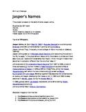 Jasper's Names