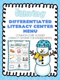 January Differentiated Literacy Center Word Work Menu (Com