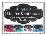 January Mentor Sentences: A Primary Mentor Sentence Unit Bundle