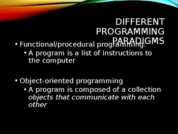 Java OOP programming