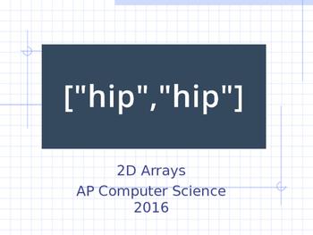 Java Programming - 2D Arrays