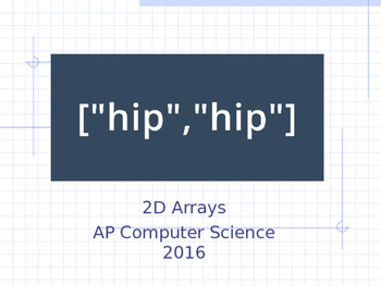 Java Programming - 2D Arrays