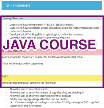 Java Programming [Computer Science Course]