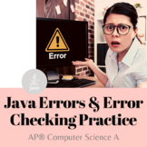 AP® Computer Science A - Java Programming - Errors and Err