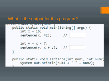 Java Programming - Methods Notes