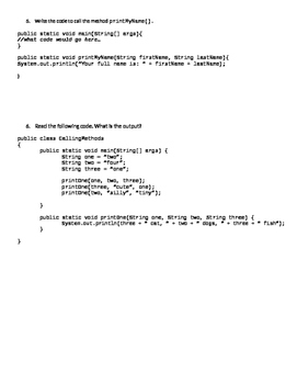 Java Programming - Static Methods Quiz