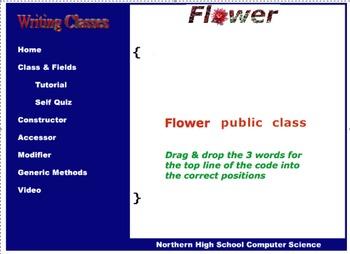 Java Writing Classes Flash Tutorial