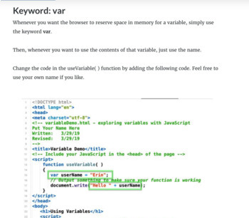 JavaScript Rocks! Using Variables
