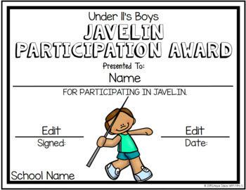 Javelin Field Awards Athletics Editable