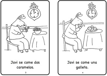Javi come mucho Spanish Printable Minibook
