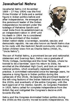 Jawaharlal Nehru Handout