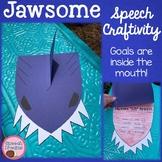 Jawsome Shark Speech Craftivity Summer Beach theme craft