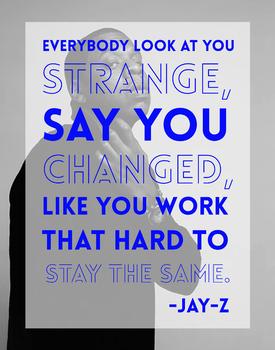 Jay-Z Motivational Classroom Poster