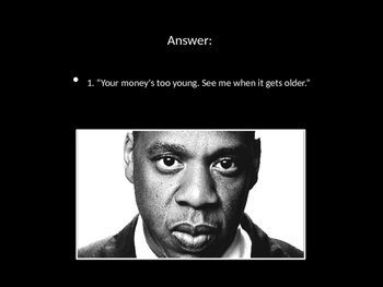 Jay-Z or Gatsby PPT Quiz