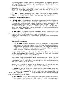 Jay's and Pinkney's Treaty Mapping Activity