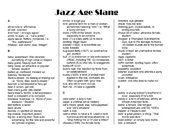 Jazz Age: 1920s Slang Lesson