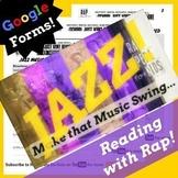Google Forms ELA Figurative Language Activities Using Jazz Age History Rap Song