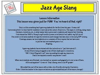 Jazz Age Slang