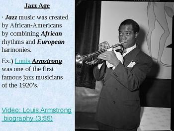 Jazz Age and Harlem Renaissance PowerPoint Presentation