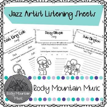 Jazz Artist Guided Listening Packet
